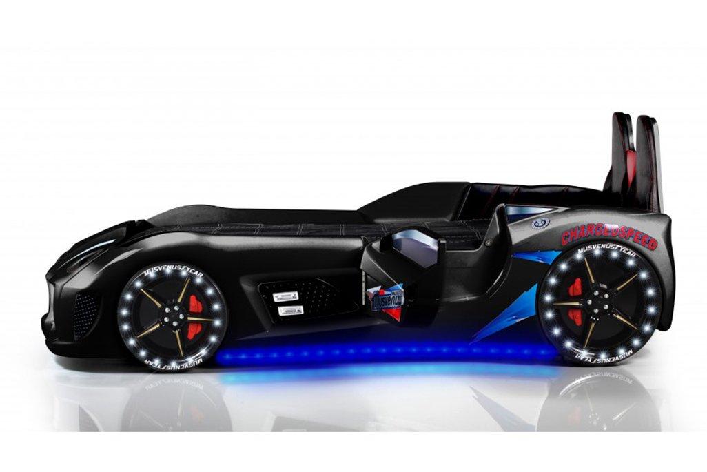 Audi V7 Siyah Arabalı Yatak Koltuklu Full Ledli