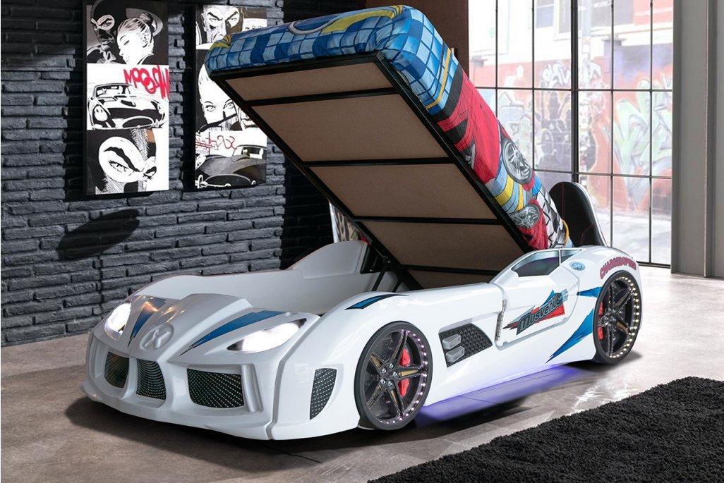 Audi V7 Süperlüx Bazalı Arabalı Yatak Full Ledli
