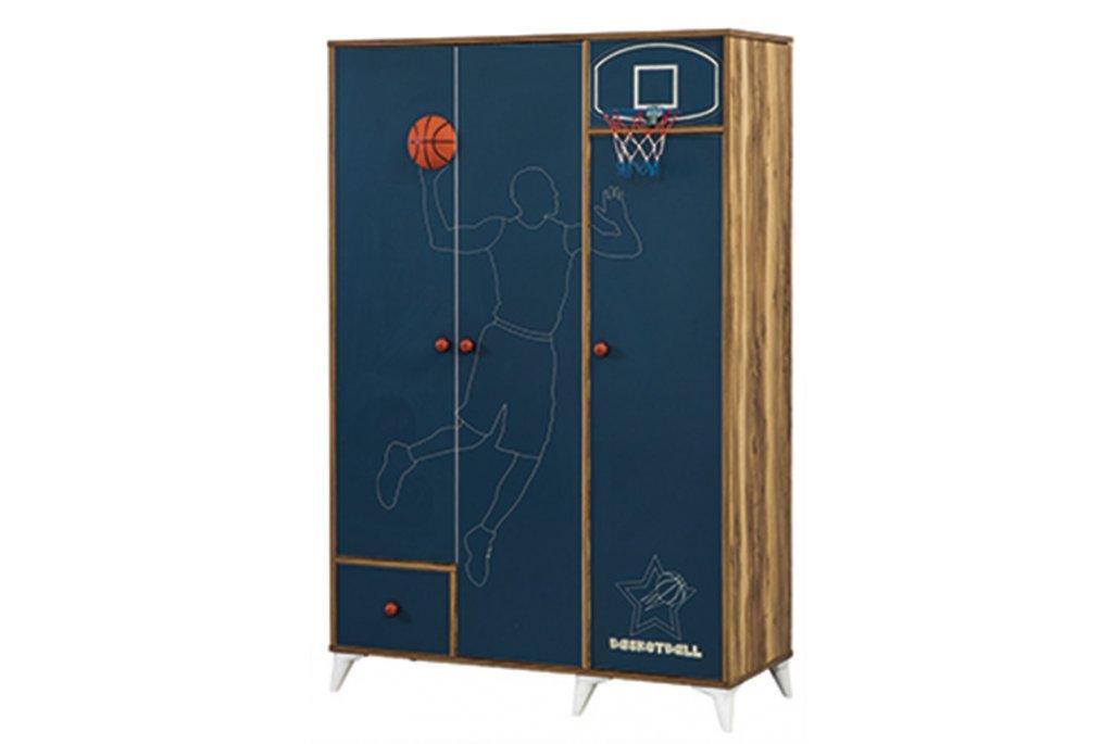 Basketbol 3 Kapaklı Dolap
