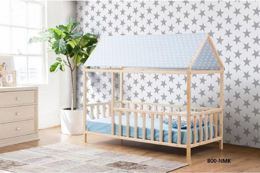 Datça Mavi Çatılı Montessori Yatak