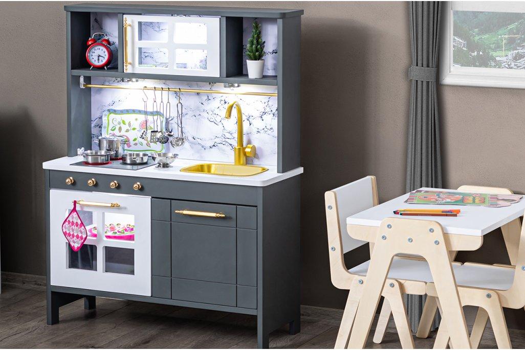 Eğitici Montessori Mutfak Bulaşık Makinalı Oyuncak Seti