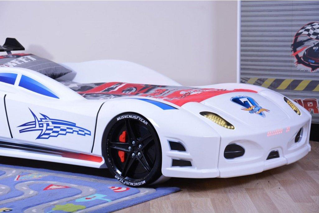 Ferrari Enzo Beyaz Arabalı Yatak