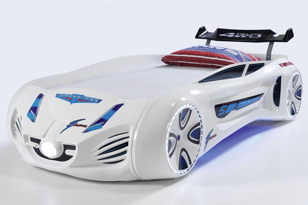 Future Arabalı Yatak Full Ledli