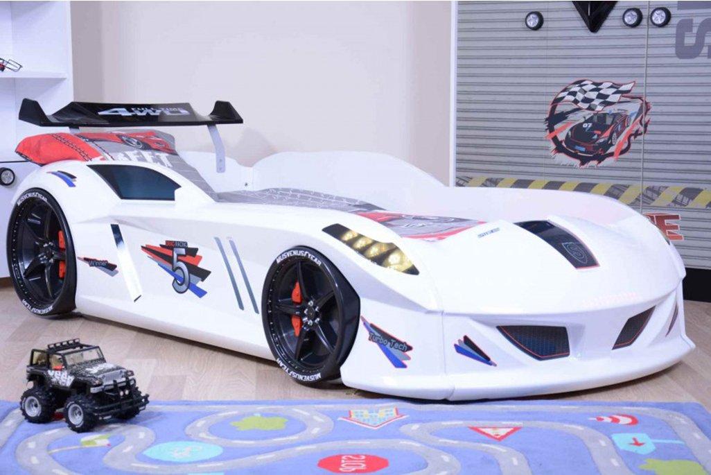 Jaguar Beyaz Arabalı Yatak