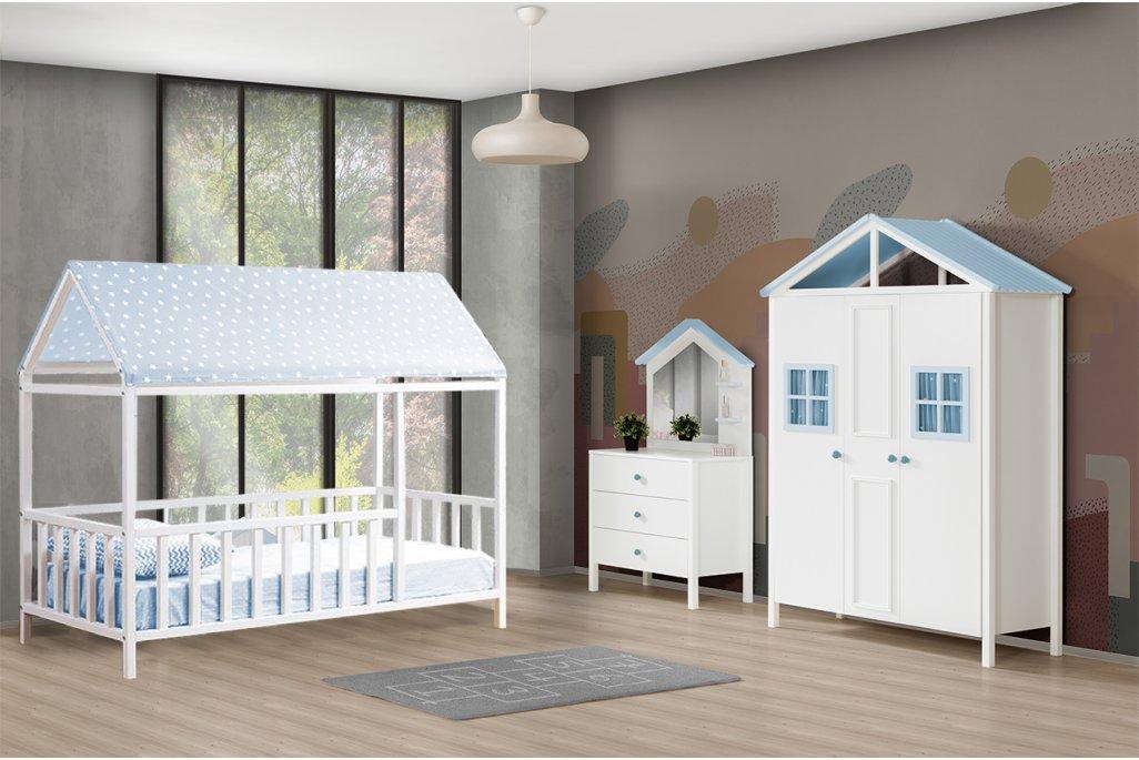 Kemer Mavi Montessori Çocuk Odası Takımı