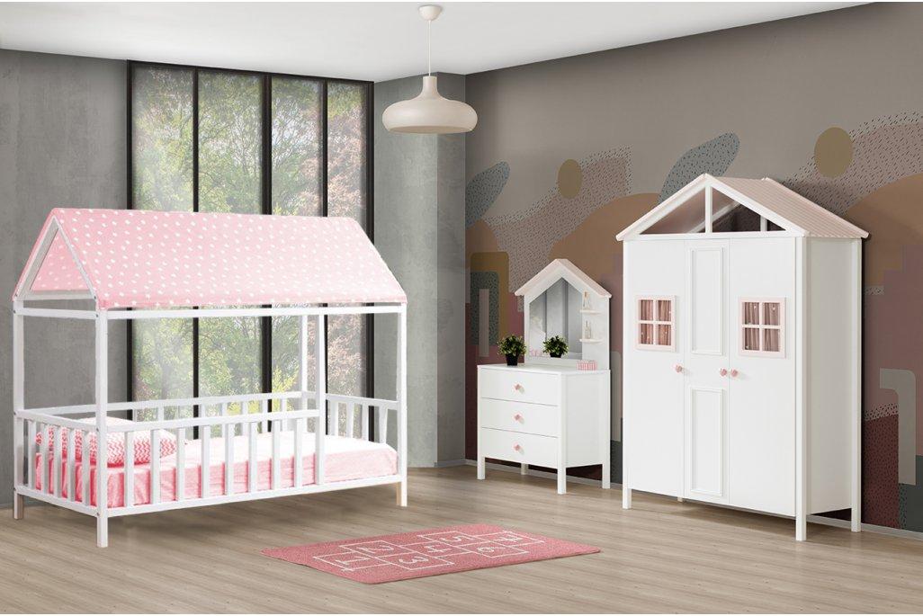 Kemer Pembe Montessori Çocuk Odası Takımı