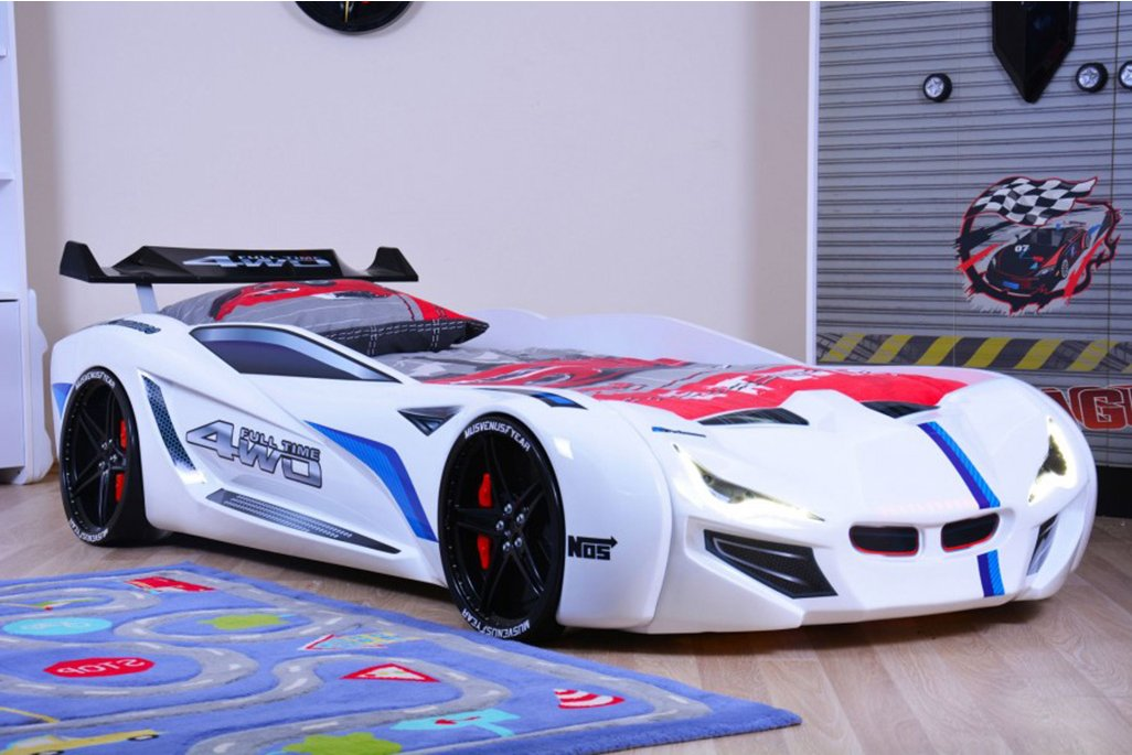 Mercedes Beyaz Arabalı Yatak