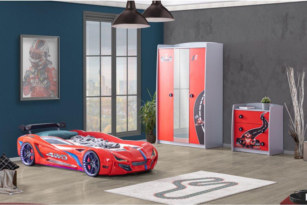 Mercedes Arabalı Yatak Full Genç Odası