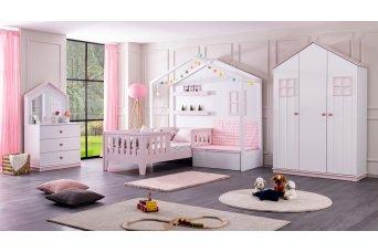 Çeşme Montessori Sedirli Karyola Çocuk Odası Takımı