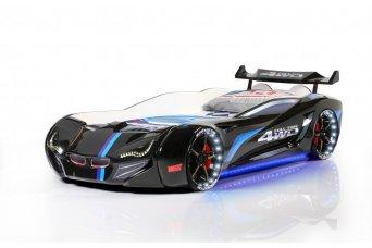 Mercedes Siyah Arabalı Yatak Full Ledli