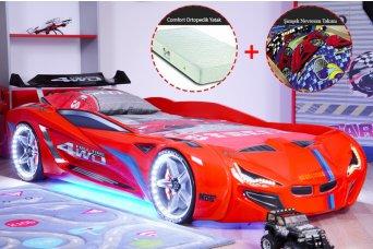 Mercedes Full Ledli Arabalı Yatak (Ortopedik Yatak ve Nevresim)