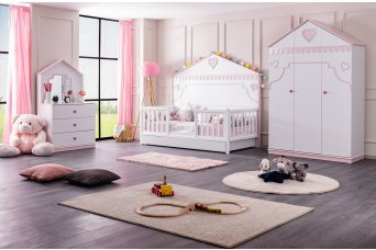 Rosa Yavrulu Montessori Çocuk Odası Takımı