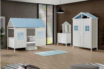 Mavi Çatılı Sicilya Montessori Çocuk Odası Takımı
